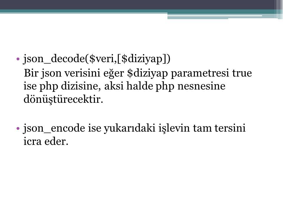 json_decode($veri,[$diziyap])